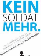 Am 20. Februar gemeinsam gegen den Afghanistan-Krieg!