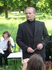 Alwin Bauer bei einem Konzert im Schloßpark Charlottenburg