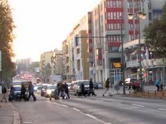 Spandauer Damm - Blick vom Klausenerplatz in Richtung Sophie-Charlotten-Straße