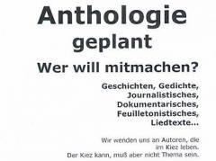 Kiezer Anthologie - Aufruf zum Mitmachen