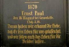 Tafel in der Auenkirche Wilmersdorf