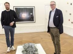 Kurator Philipp Bollmann und der Kunstsammler Heiner Wemhöner / Foto © Frank Wecker