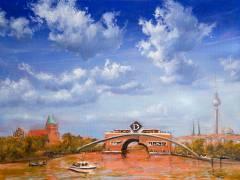 Vorschlag von Matthias Koeppel zum Wiederaufbau der Waisenbrücke / Foto © Frank Wecker