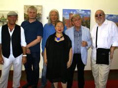 Die Maler der Waisenbrücke - POGO, Werner Aufenfehn, Frank Suplie, SOOKI, Matthias Koeppel und Frank W. Weber / Foto © Carlos Hulsch