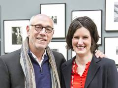 Margit Erb, Leiterin der Saul Leiter Foundation New York, und Howard Greenberg, Galerist in New York / Foto © Frank Wecker