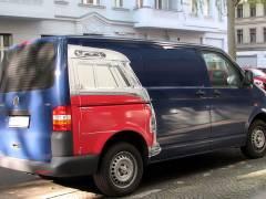 VW-Bulli in der Neuen Christstraße