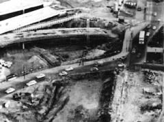 Blick vom Funkturm auf den Bau des Autobahndreiecks, 1963 - Archiv Schultz