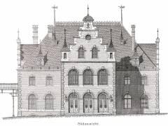 Empfangsgebäude des Bahnhof Westend 1887 - Bildquelle Wikipedia