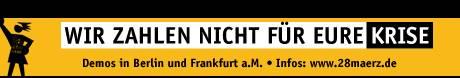 Demos in Berlin und Frankfurt