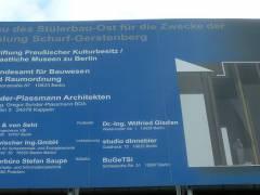 Bauarbeiten zum Museum Scharf-Gerstenberg