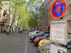 Ankündigung von Baumarbeiten in der Danckelmannstraße