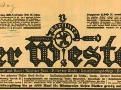 Der Berliner Westen (1920 bis 1933) / Foto Firmenarchiv der Druckerei Heenemann