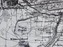 """Ausschnitt aus """"Berlin und Umgebung"""" 1860, Stahlstich / Bildquelle Wikipedia"""