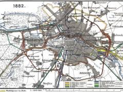 Eisenbahnnetz Berlin 1882 / Bildquelle Wikipedia (gemeinfrei)