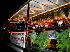 Berlin-Christmas-Biketour - Band auf dem Truck
