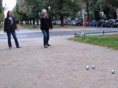 Boule-Spiel auf der Schloßstraße