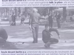"""Info-Flyer des Vereins """"boule devant berlin"""""""