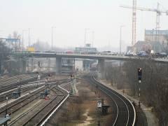 Bahnhof Westend und Spandauer-Damm-Brücke