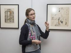 "Inga Remmers kuratiert die Ausstellung ""George Grosz in Berlin"" im Bröhan-Museum / Foto © Frank Wecker"