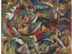 """""""Schützengraben"""" - Gemälde von Otto Dix in der Ausstellung """"Berliner Realismus. Von Käthe Kollwitz bis Otto Dix"""" im Bröhan-Museum / Foto © VG Bild-Kunst"""