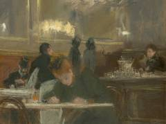 "Franz Skarbinas ""De quoi ecrire"" in der Ausstellung ""Skandal! Mythos! Moderne!"" / Repro © Bröhan-Museum"