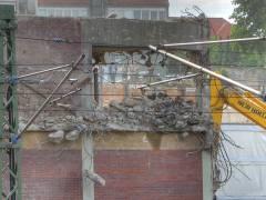 <span>Abriss und Neubau der Spandauer-Damm-Brücke - Abriss des nördlichen Teils der Brücke</span> (HDR Foto)