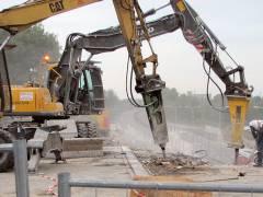 <span>Abriss und Neubau der Spandauer-Damm-Brücke - Abriss des nördlichen Teils der Brücke</span>