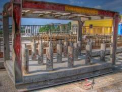 Ausstellungs - und Baustelle Spandauer-Damm-Brücke (HDR Foto)