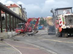Abriss und Neubau der Spandauer-Damm-Brücke - Halbzeit / Abrissbeginn der südlichen Brückenhälfte