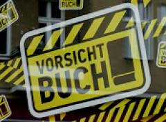 Im Fenster vom Börsenverein des Deutschen Buchhandels in der Danckelmannstraße