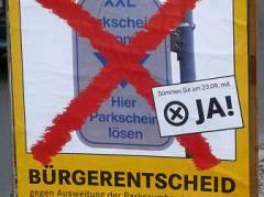 Bürgerentscheid zur Erweiterung der Parkraumbewirtschaftung