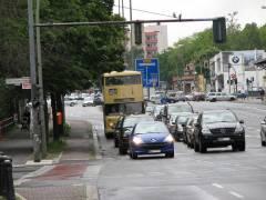 BVG Traditionsfahrt mit historischen Bussen 12.5.2007 - Spandauer-Damm-Brücke