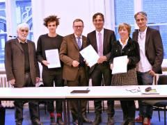 Unterzeichnung der Zählgemeinschafts- und Tolerierungsvereinbarung im Rathaus Charlottenburg
