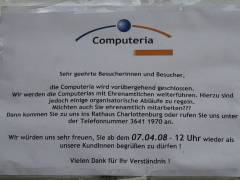 """Computeria"" in der Danckelmannstraße 41"