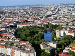 Charlottenburg mit Rathaus und Lietzensee