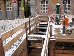 Fortsetzung der Bauarbeiten in der Danckelmannstraße zur Erweiterung des Fernwärmenetzes