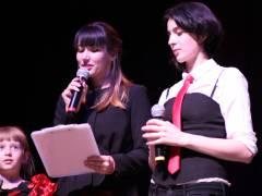 """Die Journalistinnen Dara Spieß und Tamara Inashvili moderierten den Konzertabend """"Freundschaftsbrücken"""" / Foto © Sergei Balaganski"""