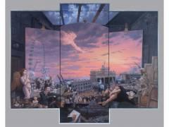 Das Jüngste Gericht, Triptychon, 245 x 300 cm, Öl/Leinwand, 2010 (Foto © Matthias Koeppel)