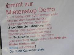 Mieterbeirat Klausenerplatz bei der Demo