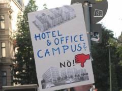 Plakat bei einer Mieterdemo - Sept. 2013