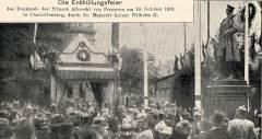 Enthüllung des Denkmals für Prinz Albrecht von Preußen am 14. Oktober 1901 in der Schloßstraße / Bildquelle Wikipedia