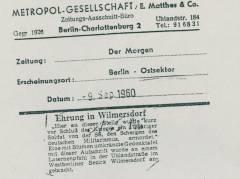 Der Morgen 1960 / Foto Museum Charlottenburg-Wilmersdorf (Archiv)
