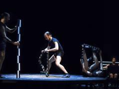 """Musiktheater """"Underline"""" in der Tischlerei der Deutschen Oper / Foto © Frank Wecker"""