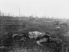 Florence Farmborough - Ein toter Soldat auf dem Schlachtfeld an der Ostfront, 1916. / Foto © Imperial War Museum, Ref. Q 98431