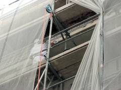 Fassadenarbeiten im Kiez