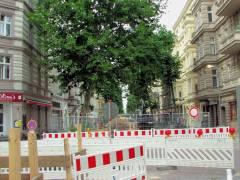 Bauarbeiten in der Danckelmannstraße zur Erweiterung des Fernwärmenetzes