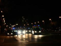 """Ebenfalls auf """"beleuchteter"""" Rundfahrt - die Polizei"""