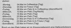 Filmaufnahmen in der Nehringstraße - Anwohnerinformation der Produktionsfirma (Mai 2015)