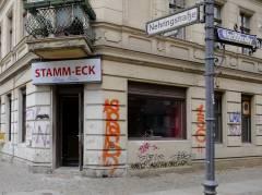 Um- und Ausbauarbeiten für Filmaufnahmen in der Nehringstraße (März 2015)