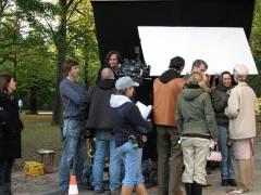 Filmaufnahmen im Schloßpark